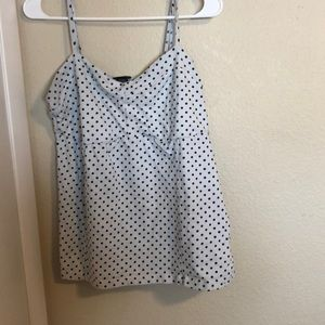 Black and white polka dot camisole